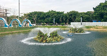 顺德江义公园人工湖水生态修复