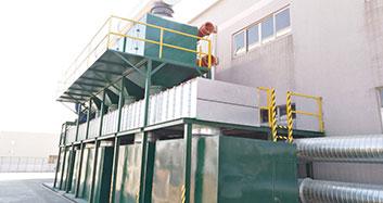 中山国景家俱有限公司喷漆废气治理工程(RCO催发燃烧工艺)